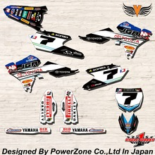 WR YZ YZF 125 250 400 450  Team Graphics Backgrounds Decals Stickers JGR Motor cross Motorcycle Dirt Bike MX Racing Parts