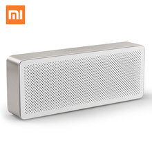 Versão inglês Xiao mi mi Bluetooth Speaker Caixa Quadrada 2 MP3 ni mi Estéreo Sem Fio Portable Speakers Music Player Bluetooth 4.2(China)