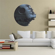 45*45cm Hot Movies Star Wars Death Star Art Wall Stickers Decals Home Decor Removable Kids Nursery Decal Sticker Fans Gifts(China)