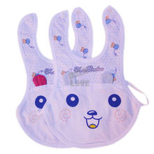 Cartoon Baby White Bibs Waterproof Scarf Saliva Apron Towel Clothing For Infant Kid