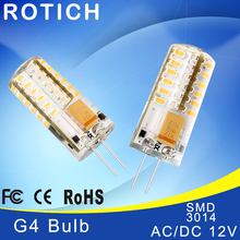 Mini G4 LED Lamp 3014 LED Bulb 5W AC DC 12V LED G4 SMD Light 360 Beam Angle Chandelier Lights Replace Halogen G4 Lamps(China)