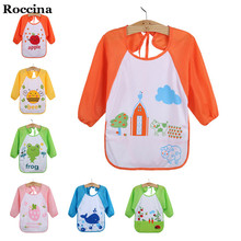 Infant Baby Bibs Apron Waterproof Long Sleeve Baby Burp Cloths Cartoon Bandana Baberos For Baby Feeding Children's Feeding Bibs