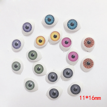 10pcs Doll Making Craft Oval eyes for BJD Acrylic Doll Accessories Eyeballs 16MM*11MM(China)
