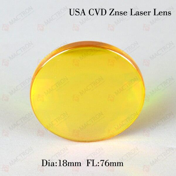 USA ZnSe Focus Laser Lens CO2(USA CVD ZnSe Materials,Dia 18mm,FL76mm)<br>
