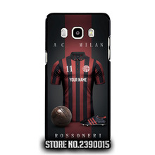 Custom AC MILAN Jersey Cover Case for Samsung A3 A5 A7 A8 A9 J1 Ace mini J2 J3 pro J5 J7 2016 Core Grand Prime Neo Plus alpha(China)