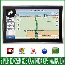 5 inch HD Car MTK MS2531 OS CE 6.0 GPS Navigation 800M/ FM/8GB/DDR 256M Newest Maps For Russia/Europe/USA vehicle Navigator(China)
