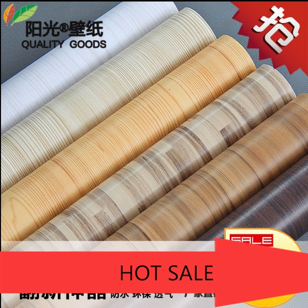 2016 new bestselling PVC wallpaper wood grain Closet cupboard door furniture renovation Imitation wood thickening wall stickers<br>