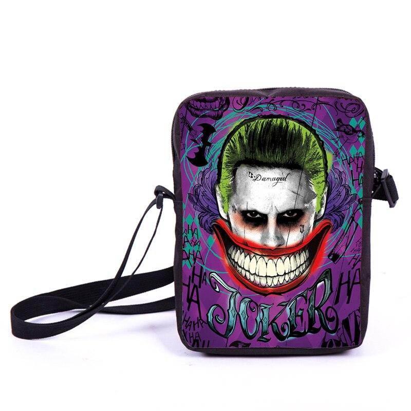 Suicide Squad / Harley Quinn Joker Mini Messenger Bag Heros Dick Grayson / Batman / Superman Cross Bags Women Handbags Gift Bag<br><br>Aliexpress