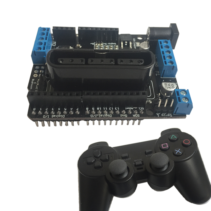 Motor Shield Smart Car Motor Drive Board Supports Wireless Remote Control of PS2 Handle<br>