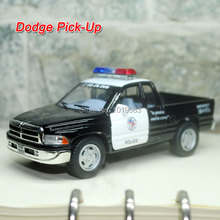 (5pcs/pack) Wholesale Brand New Cool Classic Dodge Pickup Truck (Police) 1/44 Scale Diecast Metal Pull Back Car Model Toy