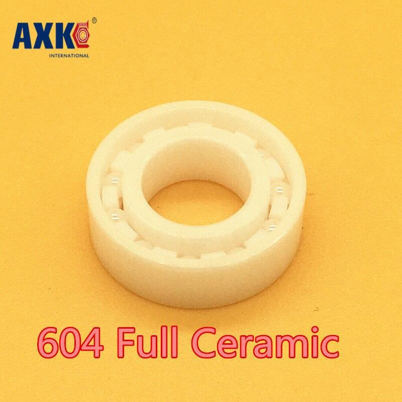 AXK 604 Full Ceramic Bearing ( 1 PC ) 4*12*4 mm ZrO2 Material 604CE All Zirconia Ceramic Ball Bearings<br>