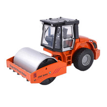 1:60 Diecast Metal & ABS Alloy Simulated Single S.W. Road Roller Car Model Toy Mini Construction Vehicle Dinky Toys Cars - LZIYIN Store store