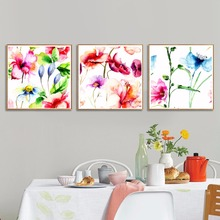 Watercolor Art Canvas Flower Painting Original Abstract Colorful Floral Print Set Rose Iris Hydrangea Lily Peony Prints No Frame