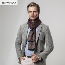 2017 Male Scarf Men Winter Scarf Pashmina Cashmere Shawl and Wraps Warm Wool Neck Scarves 180cm * 30cm 5 Colors(China)