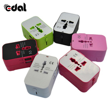 Universal International Plug Adapter 2 USB Port World Travel AC Power Charger Adapter Converter Plug Accessories(China)