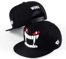 New Style  Korean Snapback Letter WUKE Adjustable Baseball Cap Hip Hop Flat Basketball Football Hat  For Men&Women