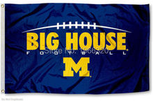 College University of Michigan Wolverines Flag UM Big House Banner Large Outdoor NCAA 3ft x 5ft 144* 96cm Custom flag