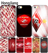 HongJiang Moskva Spartak Moscow Logo cell phone Cover case for iphone 6 4 4s 5 5s SE 5c 6 6s 7 8 plus case for iphone 7 X(China)