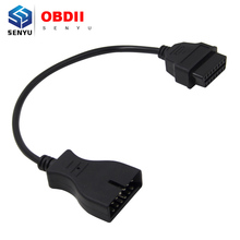 2016 High Quality For G-M 12pin to 16pin connector Adapter 12 Pin to 16 Pin OBD1 OBD2 Diagnostic extension Cable