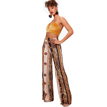 Buy Trousers Women High Waist Wide Leg Pants Female Casual Bottoms Large Sizes Clothes Summer Beach Trousers Female Pants Q4 for $9.75 in AliExpress store