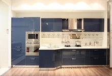 High gloss/lacquer kitchen cabinet mordern(LH-LA063)(China)