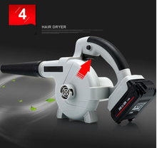 24V lithium battery Air Blower Computer Cleaner Electric Blower Vacuum Household Cleaner Suck Blow Dust Remover(China)