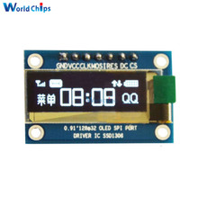 0.91 Inch 128x32 SPI Port White OLED LCD Display DIY Oled Module SSD1306 Driver IC DC 3.3V-5V For Arduino PIC