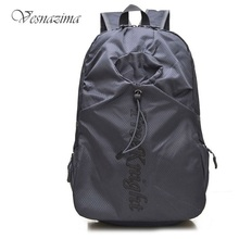 Waterproof folding backpack foldable summer travel backpacks women's girls school bags for teen boys man rucksack gray  WM220YL
