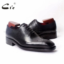 cie Square Toe wholecut Laceup Oxfords 100%Genuine Calf Leather Breathable Goodyear Welt Bespoke Leather Men Shoe Handmade OX347(China)