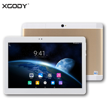 XGODY S107 Tablet 10.1 Inch 4G Dual Sim Android 6.0 MTK MT6735 Quad Core 2G RAM 16G ROM 1920*1200 OTG Phone Call Tablet PC WiFi
