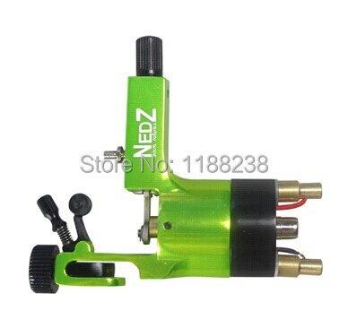 Professional NEDZ Style Rotary Tattoo Machine Green Permanent Makeup machine Gun Liner&amp;Shader Cheap Machine Supply Free Shipping<br>