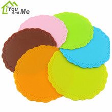 Cute Mini Silicone Cup Mat Pads Coaster Heat Insulation Anti-Slip Cup Mat Silicone Dining Table Pads
