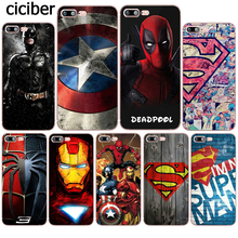 Phone Case Superman Deadpool Iron Man DC Marvel Silicone Soft TPU Coque for Apple iphone 8 7 6 6S plus X 5S SE 7plus Funda Cover(China)