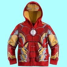 Avengers Costume For Kids Boy Lron Man/ Thor/ Hulk Jacket Children Hoodies Sweatshirt Boys Girls Coat Child Clothes Sweater(China)