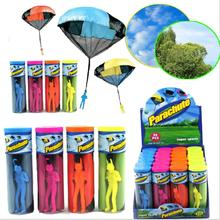 Hand Throwing  parachutes Kite kids mini play parachute soldier  toy Children's Educational Toys Kites free shipping