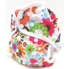 free shipping hot sale 1pc new arrival white edge binding waterproof new style AIO all in one cloth diaper with bamboo inserts
