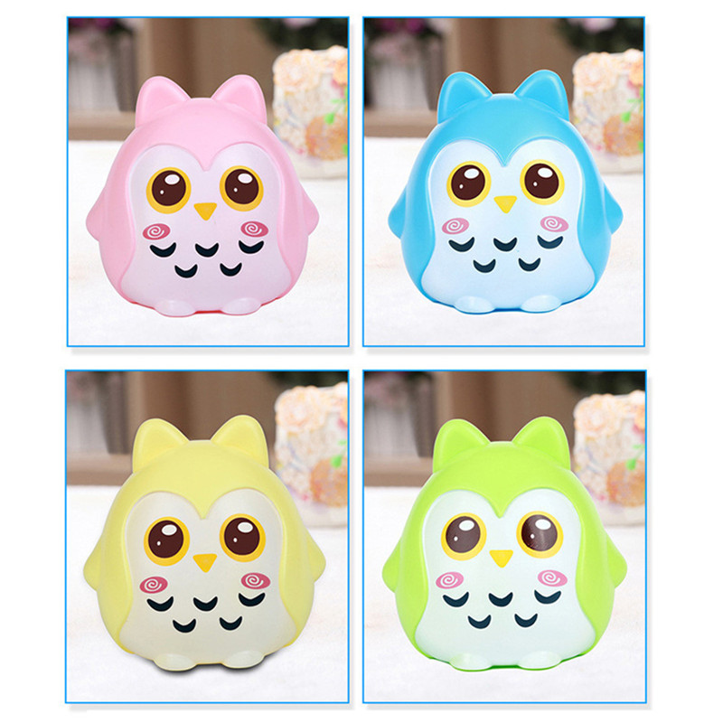 Cartoon Owl Piggy Bank Children's Coin Storage Boxes Candy Box Piggy Jr Birthday Gift 4 Colors Hot Sale 667(China)
