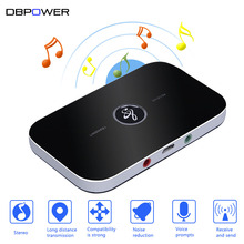 DBPOWER 2 in 1 Bluetooth Transmitter and Receiver HIFI Wireless Receiver A2DP Aux 3.5mm Portable Audio Player for TV PC Speaker