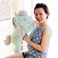 1pc 55cm Kawaii Creative Plush Toy Unicorn Paper Extraction Box Stuffed Anime Toy Paw Doll For Girls(China)