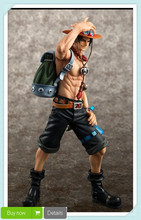 Anime Japanese Catoon One Piece POP DX Fire ACE the 10th Anniversary Special Edition PVC Action Figure Model Toy Drop Shipping