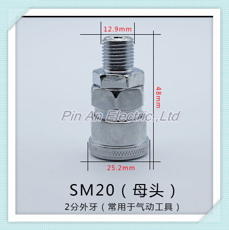 SM20 PM20 Pneumatic Fitting 1/4 PT Thread Air Coupler Quick Connector<br><br>Aliexpress