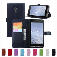 Wallet Case For Asus Zenfone 6 Zenfone6 PU Leather Kickstand TUP Back Shell Pink Rose Green Purple Blue Black White