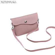 XZXBBAG Women Fashion Mini Hasp Shoulder Bags Female Casual Handbags Girls Solid Cell Phone Case Students Crossbody Pouch XB377