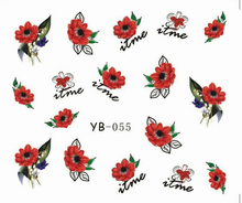 Nail Sticker Large Flower Water Transfers Stickers Nail Decals Stickers Water Decal Opp Sleeve Packing YB55-60