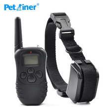 Petrainer 998DR-1 300 Meters Remote Electric Shock Anti-bark Rechargeable Waterproof Pet Dog Training Collar With LCD Display