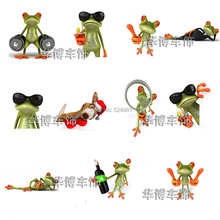 1 pcs 3d three-dimensional frog stickers personalized gekkonidae wall stickers rear view mirror garland(China)