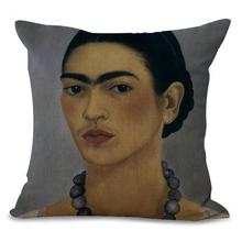 Latest Design Modern Head Portrait Printing Cotton Linen Decorative Pillow Home Sofa Office Backrest Cushion For Girls Gift