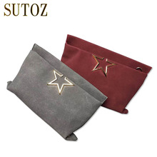 Fashion Star Designer Bags Women Scrub Leather Bag Envelope Shoulder Crossbody Lady's Pouch Handbag Messenger Bags Trend(China)