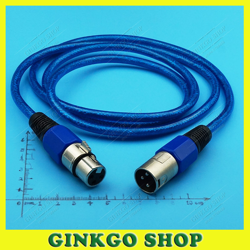 1pcs/lot Female to Male XLR 3 Pin Microphone Connectors Jack with Cable Length 1.5meters Mixer AMP XLR Extension<br><br>Aliexpress