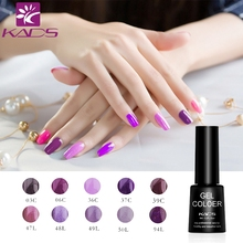 KADS Gel Polish Amazing Purple Series Nail Gel UV Soak off Lacquer Polish 7ml UV Nail Gel Lacquer 10 Colors For Choosing(China)